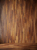 Illustration render black interior with wood wall. 3d render black interior with wood panels on the walls Royalty Free Stock Photography