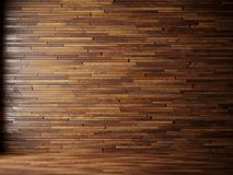 Illustration render natural interior with wood wall panels. Illustration 3d render black interior with wood wall Royalty Free Stock Photos