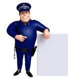 Illustration rendue de police avec le conseil blanc Photos stock