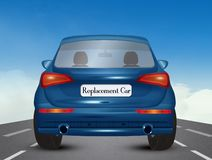 Illustration of replacement car. Illustration of replacement blue car royalty free illustration