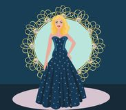 Illustration representing a fashion show royalty free stock photography