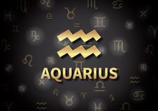 An illustration representing the zodiac sign of Aquarius Stock Photography