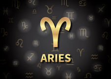 An illustration representing the zodiac sign of Aries Stock Images