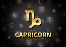 An illustration representing the zodiac sign of Capricorn Stock Images