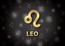 An illustration representing the zodiac sign of Leo Stock Photo