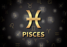 An illustration representing the zodiac sign of Pisces Stock Photo