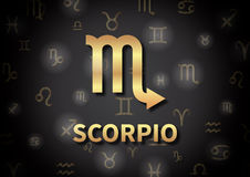An illustration representing the zodiac sign of Scorpio Royalty Free Stock Photography