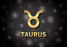 An illustration representing the zodiac sign of Taurus Stock Image