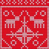 Knitting rendeer Royalty Free Stock Images