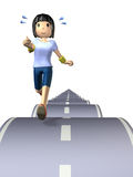 Illustration that represents the long distance runner Stock Images