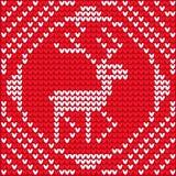 Christmas knitting Royalty Free Stock Image
