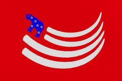 Illustration resembling American flag of tusks and elephant. Royalty Free Stock Images