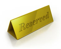 Illustration of reservation sign Royalty Free Stock Photos