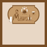 Illustration of the restaurant menu Royalty Free Stock Images