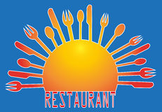 Illustration for restaurants. Illustration frame with cutlery for restaurants Stock Images