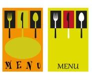 Illustration for restaurants. Illustration frame with cutlery for restaurants Royalty Free Stock Photo