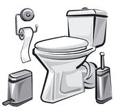 Restroom wc with toilet. Illustration of restroom wc with toilet Royalty Free Stock Images