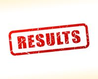 Results text buffered. Illustration of results text buffered on white background Royalty Free Stock Image