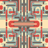 Illustration of retro abstraction. Stock Image