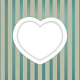 Retro background with heart Royalty Free Stock Image