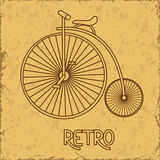 Illustration with retro bicycle Royalty Free Stock Image
