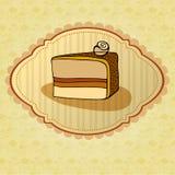 Illustration of retro cake card Royalty Free Stock Image