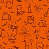 Illustration of retro graphical Halloween pattern. Illustration of vector retro graphical Halloween pattern Stock Photo