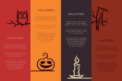 Illustration of retro graphical templates with. Illustration of vector retro graphical templates with Halloween elements Stock Images