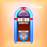 illustration of retro juke box Stock Photography