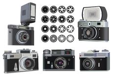 Illustration of retro photo camera Stock Images