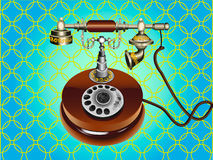 The  illustration of retro telephone. Stock Images