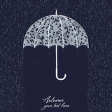 Illustration of retro umbrella stock illustration