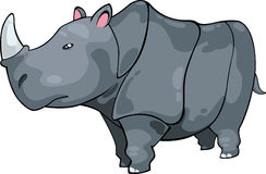 Illustration Rhino vector. Illustration cartoon Rhino on White background vector file Stock Images