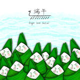 Illustration of  rice dumpling for Dragon Boat Festival Royalty Free Stock Photography
