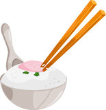 Illustration rice vector. Illustration of cartoon rice on white background vector file Royalty Free Stock Image