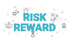Illustration of risk and reward wording concept. vector illustration