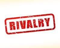 Rivalry red text stamp. Illustration of rivalry red text stamp stock illustration
