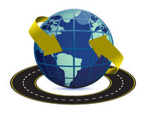 Illustration of road around the earth Stock Photography