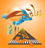 Illustration of the road direction of sales Royalty Free Stock Image