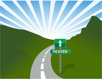 Illustration of road to heaven Stock Photography
