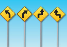Illustration of roads signs Stock Photography