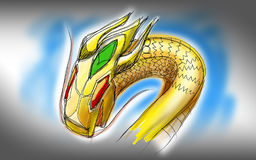 Illustration of robot snake Royalty Free Stock Photography