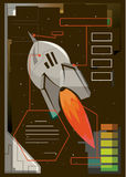 Illustration of a rocket Royalty Free Stock Photos