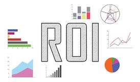 Concept of roi. Illustration of a roi concept vector illustration