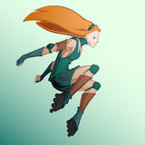 Illustration of roller girl. Royalty Free Stock Photography