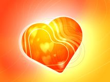 Illustration romantic heart with strips Royalty Free Stock Image