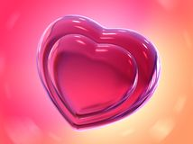 Illustration romantic heart Valentine's Day Royalty Free Stock Image