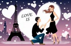 Illustration romantique de vecteur Photos stock