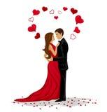 Illustration romantique de vecteur de couples Images stock
