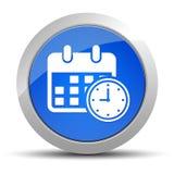 Illustration ronde bleue de bouton d'icône de calendrier de date de rendez-vous illustration de vecteur